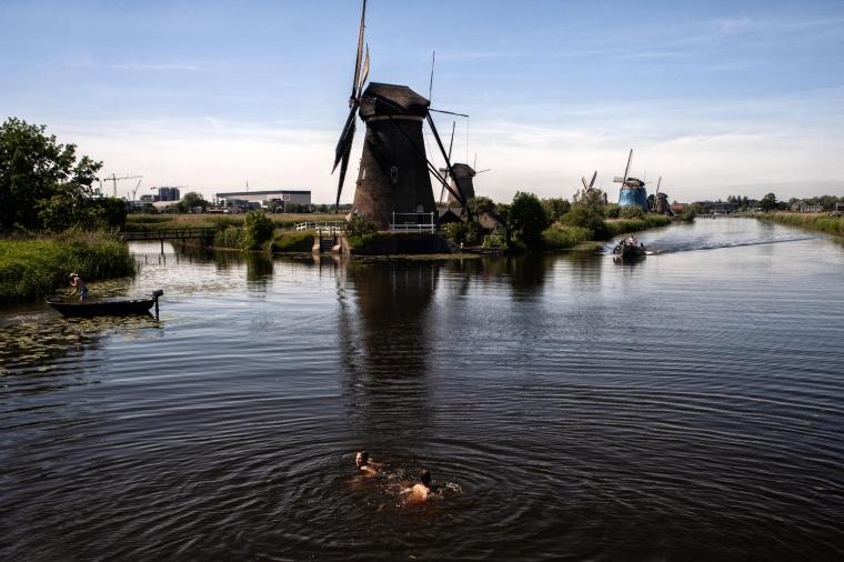 Olanda, KINDERDIJK: Un tuffo tra i mulini
