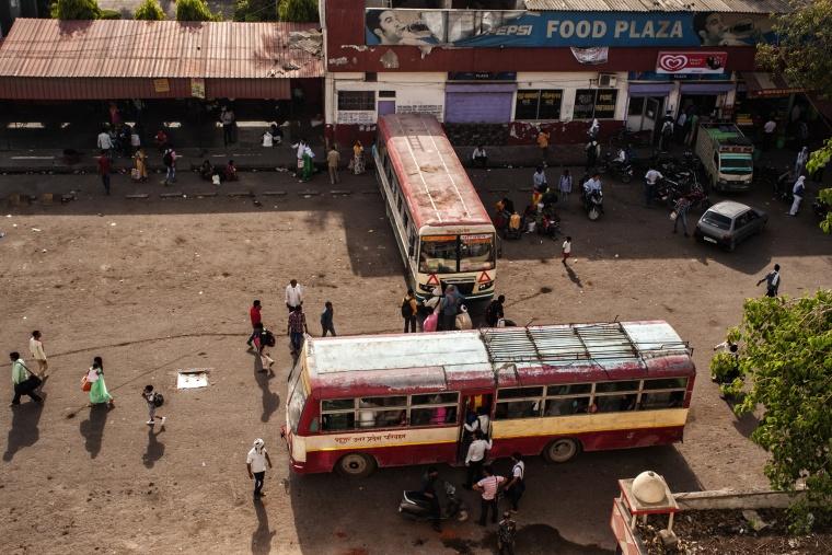 India, VARANASI - ALLAHABAD: Ma guarda, c'è un elefante in autostrada...