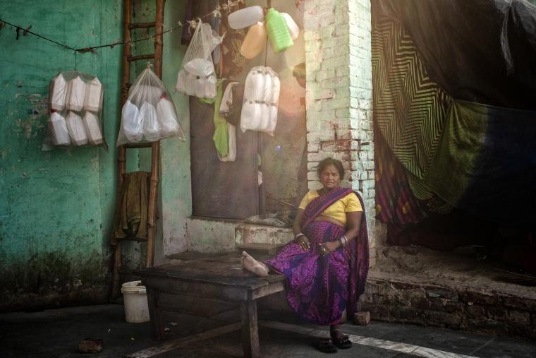 India, KANPUR: Cena in famiglia