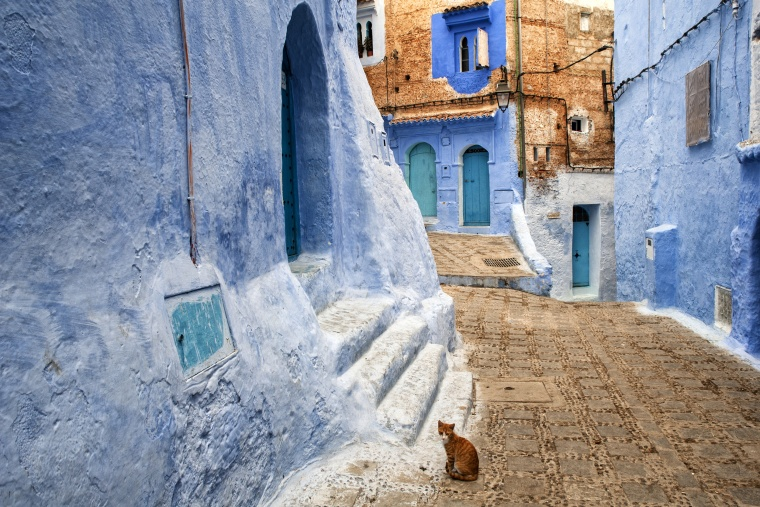 Marocco, CHEFCHAOUEN: Sì, effettivamente la cromoterapia sta funzionando…