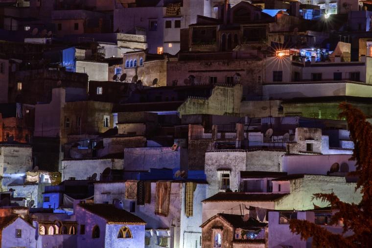 Marocco, CHEFCHAOUEN: Titolo cafone anni 80: Chefchaouen by Night