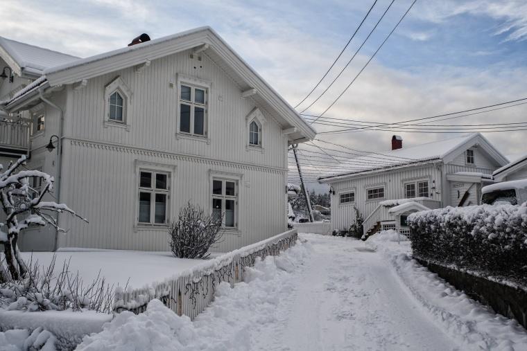 Norvegia, BÅTSTØ : Con le sneakers sulla neve
