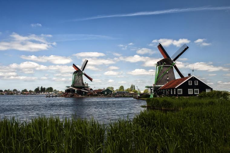 Olanda, ZAANSE SCHANS: Anemia col vento