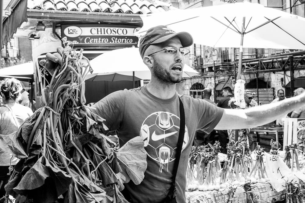 Vegetables seller