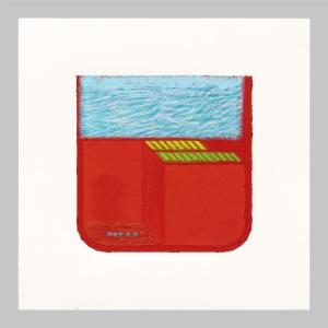 2015, tempera su carta, 25 x 25 cm