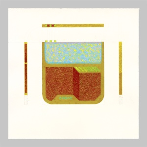 2015, tempera su carta, 35 x 35 cm