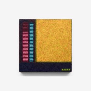 Dispositivo tecno-percettivo, 2015, olio su tela, 30 x 30 x 3 cm