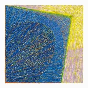 (Senza titolo), 2014, tempera su carta, 18 x 18 cm