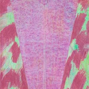 (Senza titolo), 2014, pastello a olio su carta, 50,5 x 33 cm