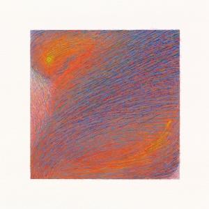 Mutamento, 2017, acrilico e tempera su carta, 20 x 20 cm